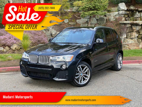 2015 BMW X3 for sale at Mudarri Motorsports in Kirkland WA
