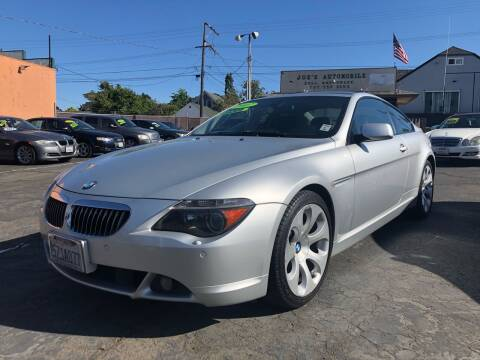 2007 BMW 6 Series for sale at Joe's Automobile in Vallejo CA