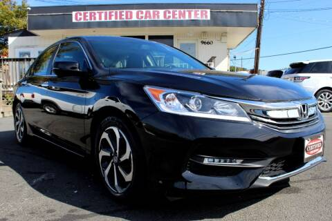 2017 Honda Accord for sale at CERTIFIED CAR CENTER in Fairfax VA