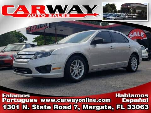 2012 Ford Fusion for sale at CARWAY Auto Sales in Margate FL