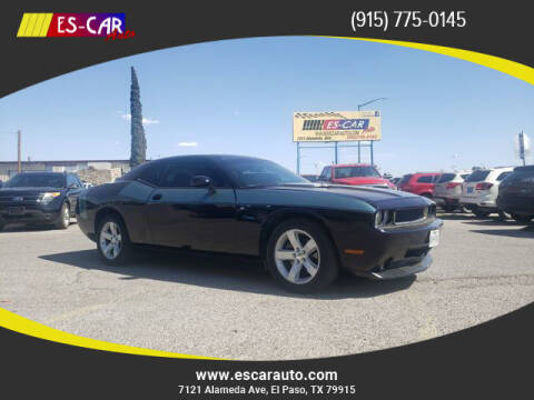 2012 Dodge Challenger for sale at Escar Auto in El Paso TX