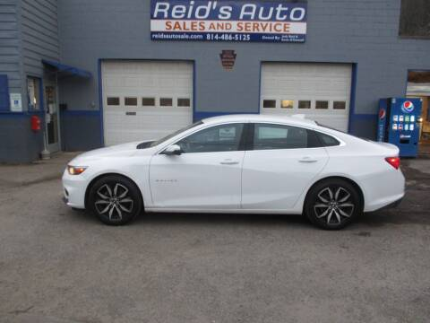 2018 Chevrolet Malibu for sale at Reid's Auto Sales & Service in Emporium PA