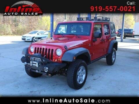 2012 Jeep Wrangler Unlimited for sale at Inline Auto Sales in Fuquay Varina NC