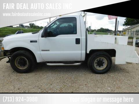 2004 Ford F-350 Super Duty for sale at FAIR DEAL AUTO SALES INC in Houston TX