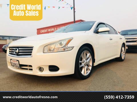 2014 Nissan Maxima for sale at Credit World Auto Sales in Fresno CA
