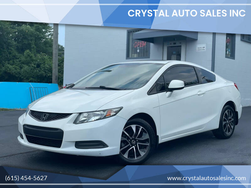 2013 Honda Civic for sale at Crystal Auto Sales Inc in Nashville TN