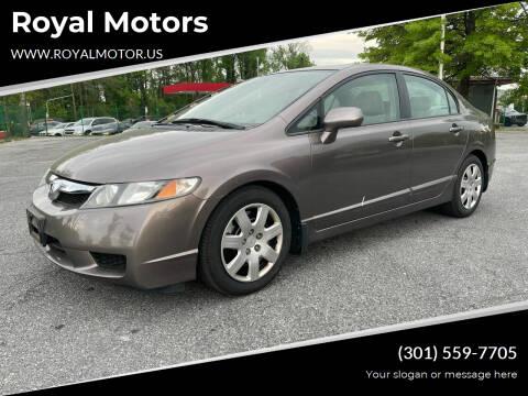 2009 Honda Civic for sale at Royal Motors in Hyattsville MD