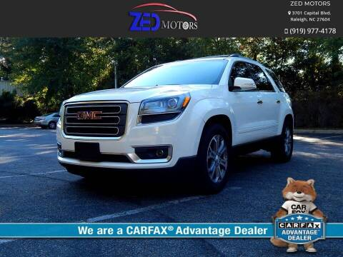 2013 GMC Acadia for sale at Zed Motors in Raleigh NC