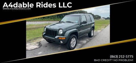 2002 Jeep Liberty for sale at A4dable Rides LLC in Haines City FL