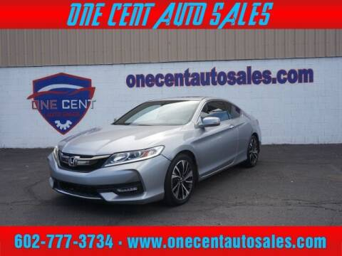 2017 Honda Accord for sale at One Cent Auto Sales in Glendale AZ