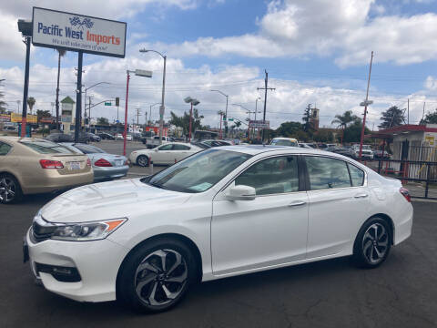 2016 Honda Accord for sale at Pacific West Imports in Los Angeles CA