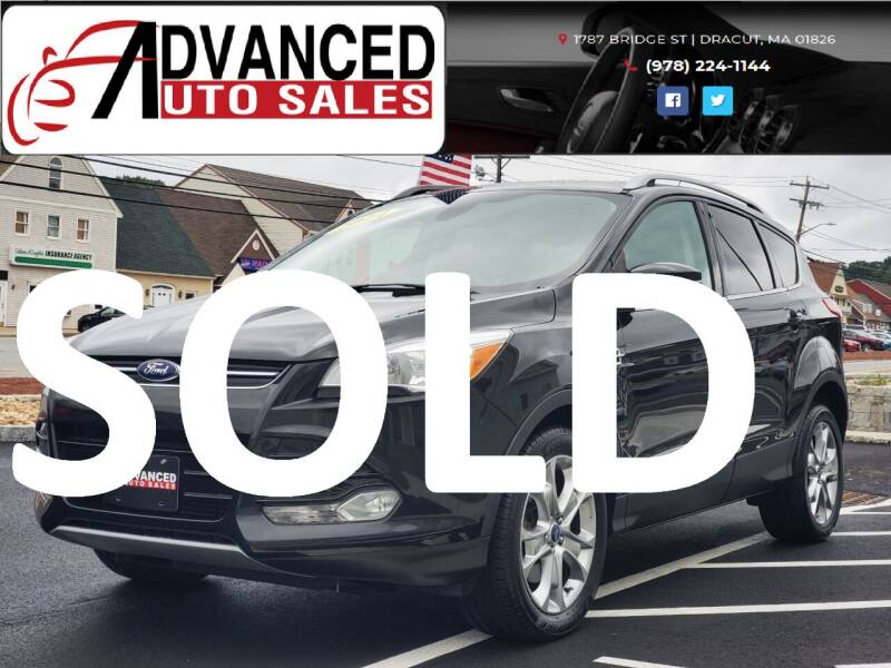 2014 Ford Escape for sale at Advanced Auto Sales in Dracut MA