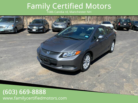 2012 Honda Civic for sale at Family Certified Motors in Manchester NH