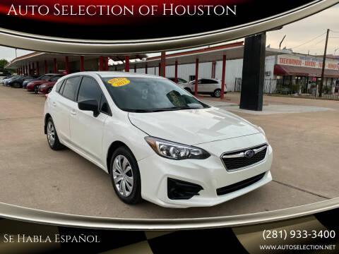 2017 Subaru Impreza for sale at Auto Selection of Houston in Houston TX