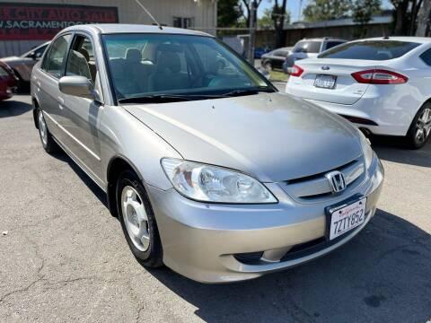 2005 Honda Civic for sale at River City Auto Sales Inc in West Sacramento CA