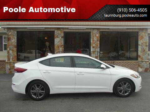 2018 Hyundai Elantra for sale at Poole Automotive in Laurinburg NC