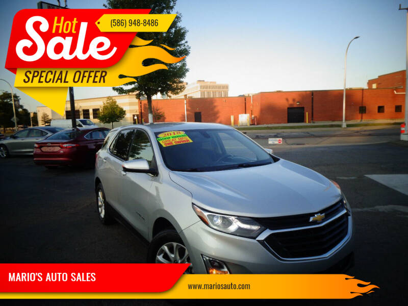 2018 Chevrolet Equinox for sale at MARIO'S AUTO SALES in Mount Clemens MI