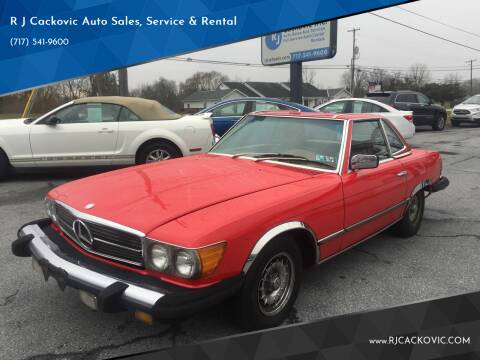 1977 Mercedes 450SL for sale at R J Cackovic Auto Sales, Service & Rental in Harrisburg PA