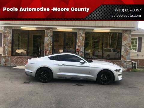 2018 Ford Mustang for sale at Poole Automotive in Laurinburg NC
