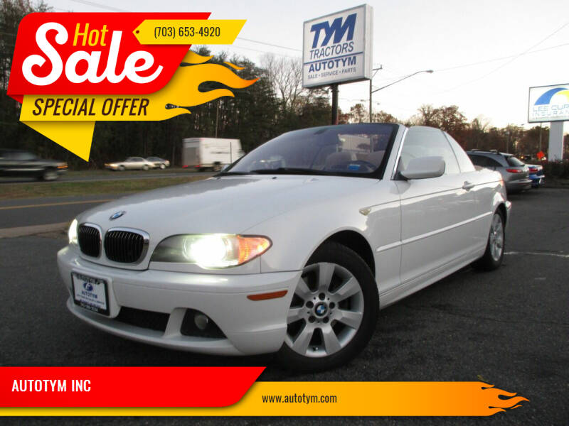 2005 BMW 3 Series for sale at AUTOTYM INC in Fredericksburg VA