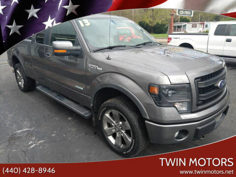 2013 Ford F-150 for sale at TWIN MOTORS in Madison OH