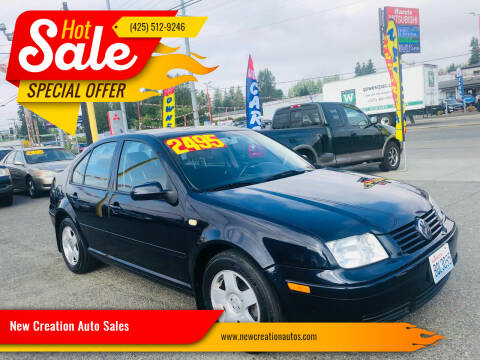 2000 Volkswagen Jetta for sale at New Creation Auto Sales in Everett WA