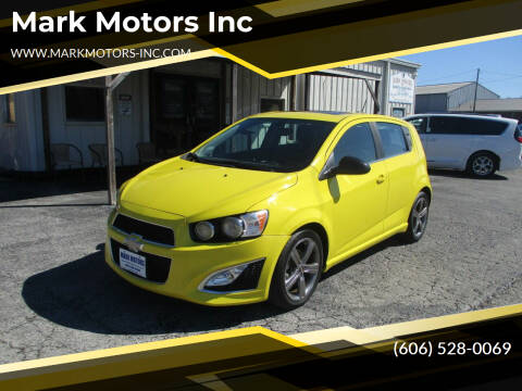 2015 Chevrolet Sonic for sale at Mark Motors Inc in Gray KY