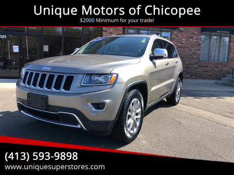 2016 Jeep Grand Cherokee for sale at Unique Motors of Chicopee in Chicopee MA