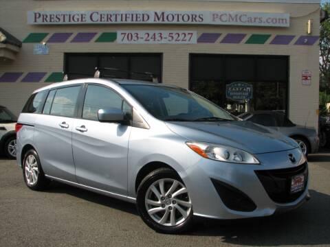 2012 Mazda MAZDA5 for sale at Prestige Certified Motors in Falls Church VA