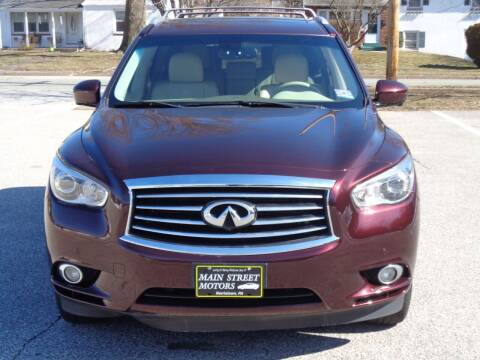 2014 Infiniti QX60 for sale at MAIN STREET MOTORS in Norristown PA
