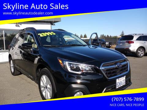 2018 Subaru Outback for sale at Skyline Auto Sales in Santa Rosa CA