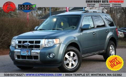 2012 Ford Escape for sale at Auto Sales Express in Whitman MA