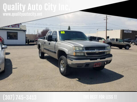 2003 Chevrolet Silverado 1500HD for sale at Quality Auto City Inc. in Laramie WY