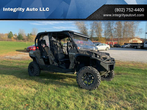 2017 Can Am Commander for sale at Integrity Auto LLC in Sheldon VT