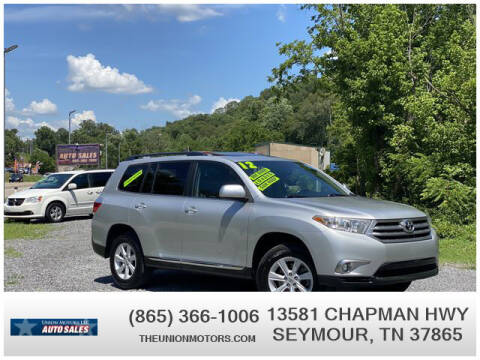 2012 Toyota Highlander for sale at Union Motors in Seymour TN