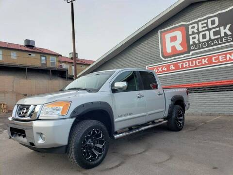 2015 Nissan Titan for sale at Red Rock Auto Sales in Saint George UT