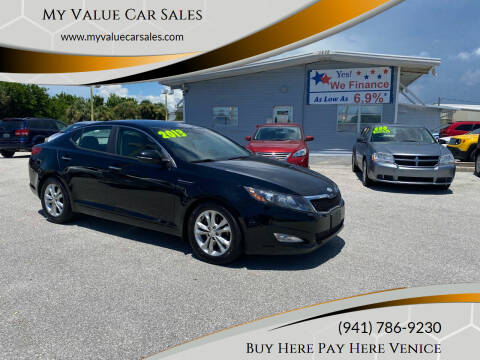 2013 Kia Optima for sale at My Value Car Sales - Upcoming Cars in Venice FL