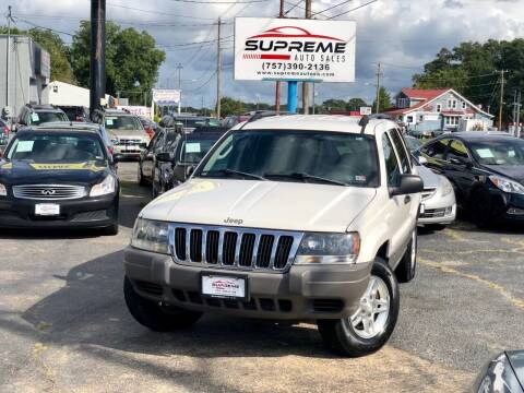 2003 Jeep Grand Cherokee for sale at Supreme Auto Sales in Chesapeake VA