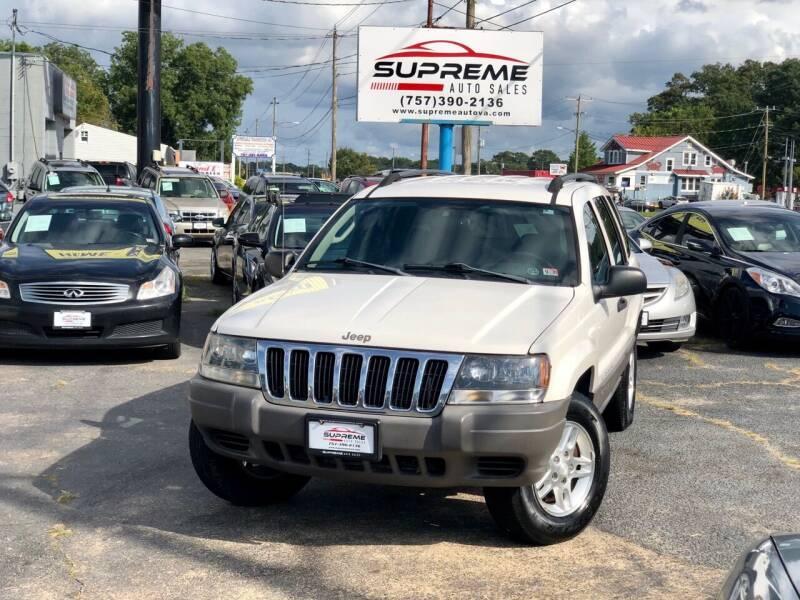 2003 Jeep Grand Cherokee for sale at Supreme Auto Sales in Chesapeake VA