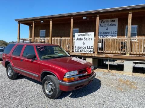 2000 Chevrolet Blazer for sale at Vermilion Auto Sales & Finance in Erath LA