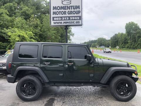 2010 Jeep Wrangler Unlimited for sale at Momentum Motor Group in Lancaster SC