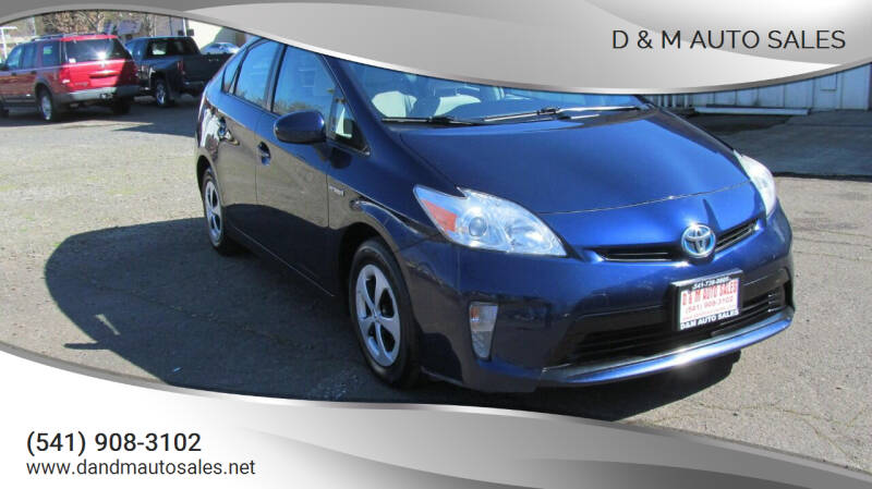 2013 Toyota Prius for sale at D & M Auto Sales in Corvallis OR