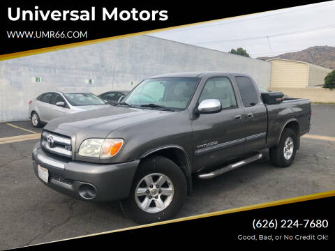 2006 Toyota Tundra for sale at Universal Motors in Glendora CA