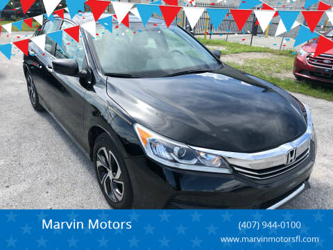2016 Honda Accord for sale at Marvin Motors in Kissimmee FL