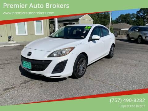 2010 Mazda MAZDA3 for sale at Premier Auto Brokers in Virginia Beach VA