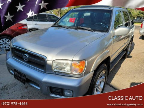 2002 Nissan Pathfinder for sale at Classic Auto in Greeley CO