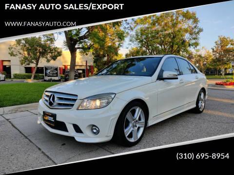 2010 Mercedes-Benz C-Class for sale at FANASY AUTO SALES/EXPORT in Yorba Linda CA