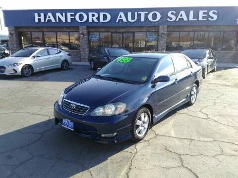 2006 Toyota Corolla for sale at Hanford Auto Sales in Hanford CA