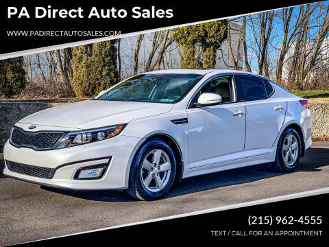 2014 Kia Optima for sale at PA Direct Auto Sales in Levittown PA
