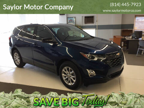 2020 Chevrolet Equinox for sale at Saylor Motor Company in Somerset PA